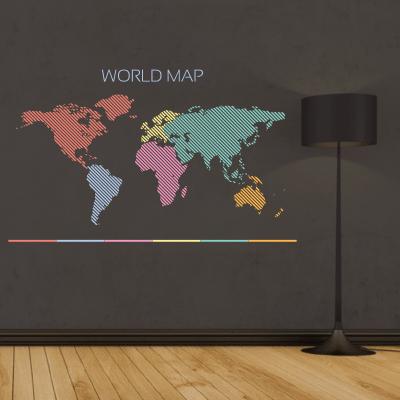 # Αυτοκόλλητο τοίχου map - Sticker Box