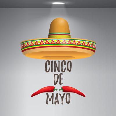 # Αυτοκόλλητο βιτρίνας για μεξικάνικο εστιατόριο - Sticker Box