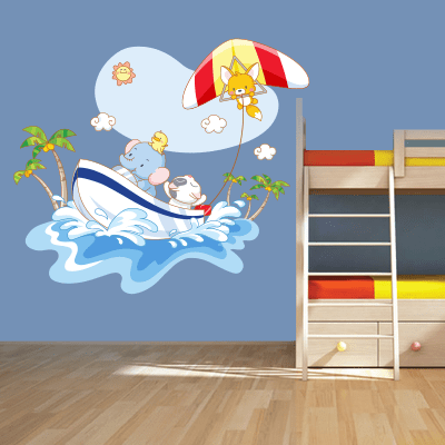 # Αυτοκόλλητο τοίχου βόλτα στη θάλασσα - Sticker Box