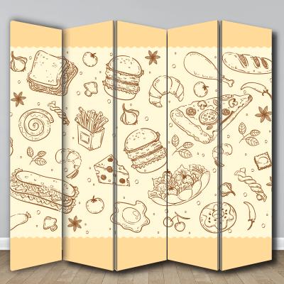 # Διακοσμητικό παραβάν για εστιατόριο - Sticker Box