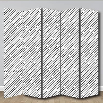 # Παραβάν μοτίβο με διαγώνιες γραμμές - Sticker Box