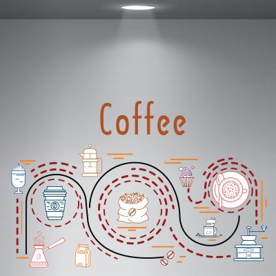 # Αυτοκόλλητο βιτρίνας για καφετέριες - Sticker Box