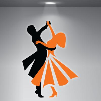 # Αυτοκόλλητο βιτρίνας για σχολές χορού - Sticker Box