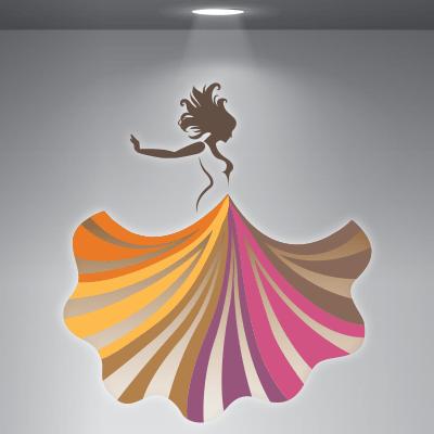 # Αυτοκόλλητο βιτρίνας για σχολή χορού - Sticker Box