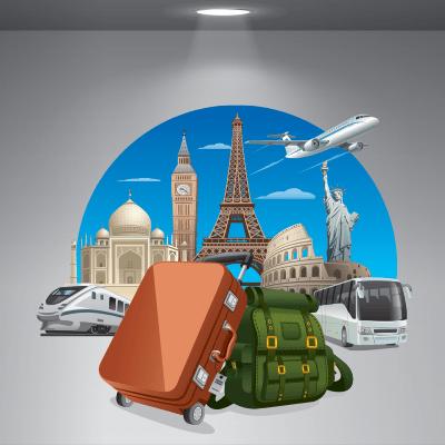 # Αυτοκόλλητο βιτρίνας για ταξιδιωτικό γραφείο - Sticker Box