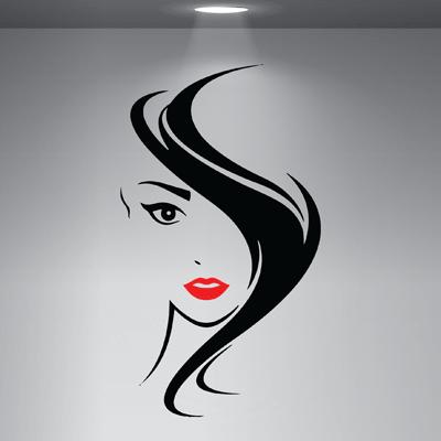 # Αυτοκόλλητο βιτρίνας με κοπέλα - Sticker Box