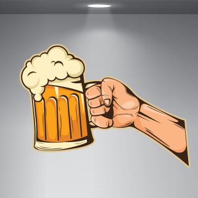 # Αυτοκόλλητο βιτρίνας με μπύρα για μπαρ - Sticker Box