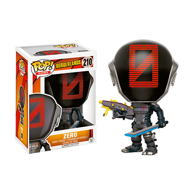# Φιγούρα με τον Zero | POP! figure Video Games Borderlands – No. 210 - Sticker Box