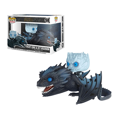 # Φιγούρα με τον Night King πάνω στον Ice Viserion | POP! figure TV series Game of Thrones – No. 58 - Sticker Box