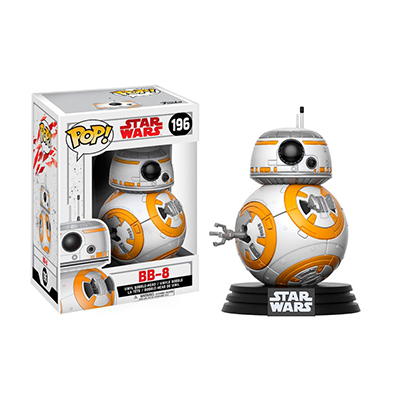 # Φιγούρα με το BB-8 | POP! figure Movie Star Wars The Last Jedi – No. 196 - Sticker Box