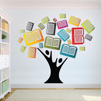 # Αυτοκόλλητο δέντρο με βιβλία - Sticker Box