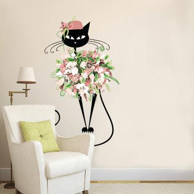 # Αυτοκόλλητο τοίχου γατάκι την άνοιξη - Sticker Box