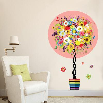 # Αυτοκόλλητο τοίχου γλαστράκι με λουλούδια - Sticker Box
