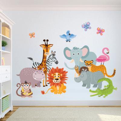# Αυτοκόλλητο τοίχου ζωάκια της ζούγκλας - Sticker Box
