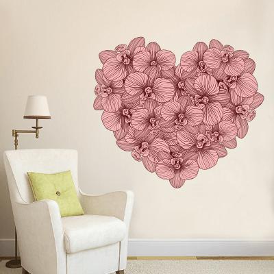 # Αυτοκόλλητο τοίχου λουλούδια σε σχήμα καρδιάς - Sticker Box