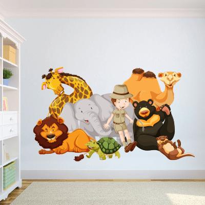 # Αυτοκόλλητο τοίχου παρέα με ζωάκια - Sticker Box
