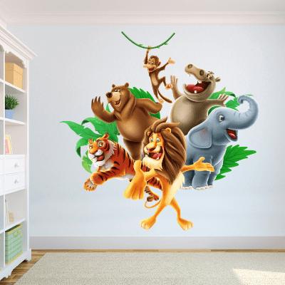 # Αυτοκόλλητο τοίχου παρέα με χαρούμενα ζωάκια - Sticker Box