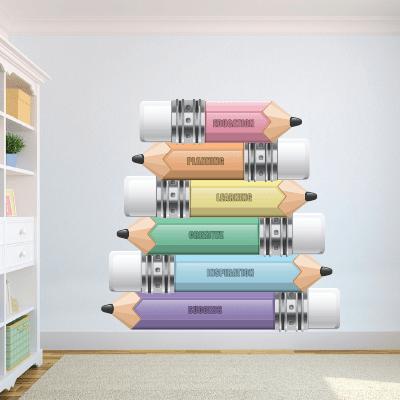 # Αυτοκόλλητο τοίχου σχολικά μολύβια - Sticker Box