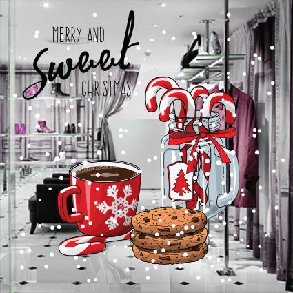 # Αυτοκόλλητο Χριστουγεννιάτικες γεύσεις - Sticker Box