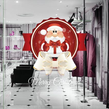 # Αυτοκόλλητο βιτρίνας Άγιος Βασίλης - Sticker Box