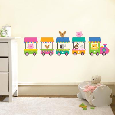 # Αυτοκόλλητο παιδικό ζωάκια στο τρένο - Sticker Box