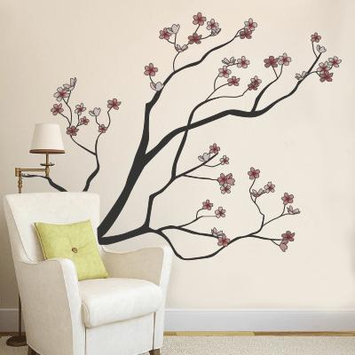 Αυτοκόλλητο τοίχου κλαδιά με λουλούδια