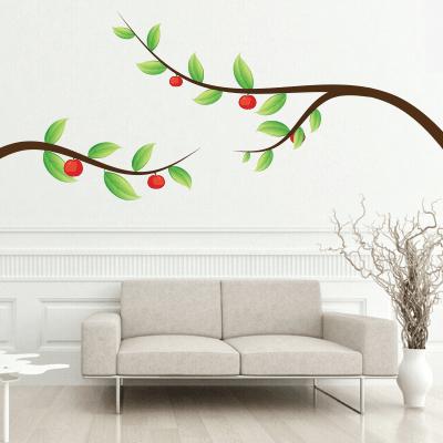 Αυτοκόλλητο τοίχου κλαδιά με μήλα