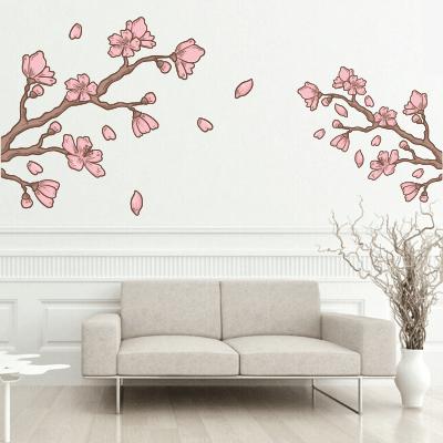 # Αυτοκόλλητο τοίχου κλαδιά με ροζ λουλούδια - Sticker Box
