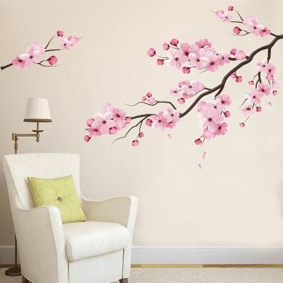 Αυτοκόλλητο τοίχου λουλούδια στα κλαδιά