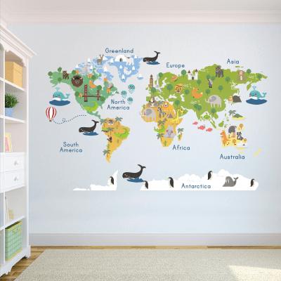 Αυτοκόλλητο τοίχου χάρτης