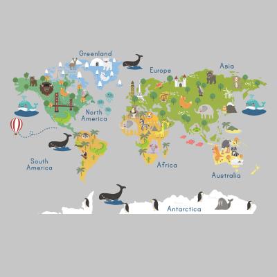 Αυτοκόλλητο τοίχου χάρτης_1