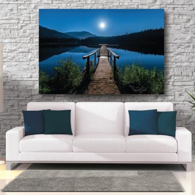 # Πίνακας λίμνη το βράδυ - Sticker Box
