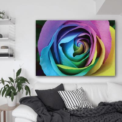 # Πίνακας με πολύχρωμο τριαντάφυλλο - Sticker Box