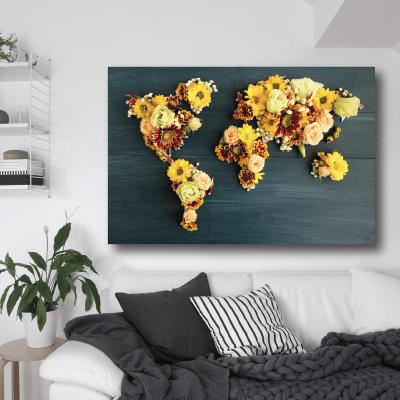 # Πίνακας χάρτης με λουλούδια - Sticker Box