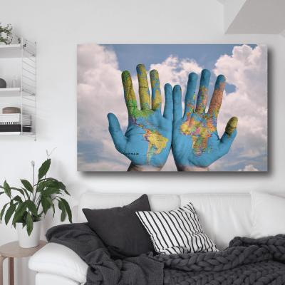 # Πίνακας χάρτης στα χέρια - Sticker Box