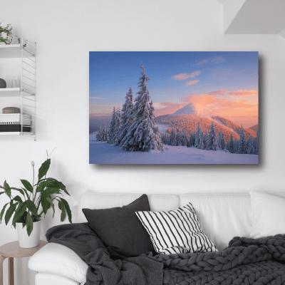 # Πίνακας χειμερινό ηλιοβασίλεμα - Sticker Box