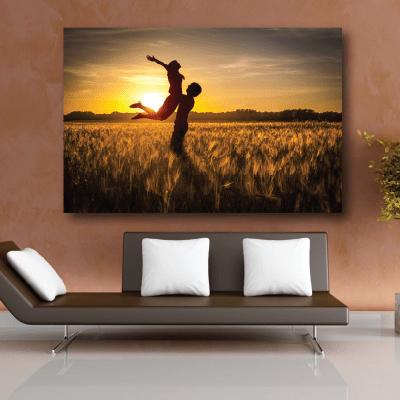 # Πίνακας χορός στο ηλιοβασίλεμα - Sticker Box