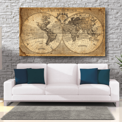 # Πίνακας vintage world map - Sticker Box