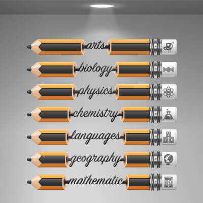 Αυτοκόλλητο για φροντιστήριο με μολύβια