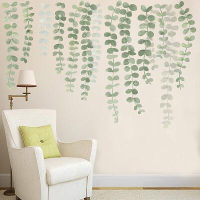 Αυτοκόλλητο τοίχου αναρριχώμενα λουλούδια