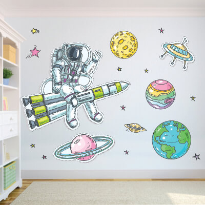 Αυτοκόλλητο τοίχου αστροναύτης