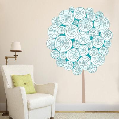 # Αυτοκόλλητο τοίχου δέντρο με κύκλους - Sticker Box