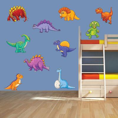 # Αυτοκόλλητο τοίχου με δεινόσαυρους (σετ 1) - Sticker Box