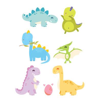 Αυτοκόλλητο τοίχου με δεινόσαυρους (σετ 2)_1