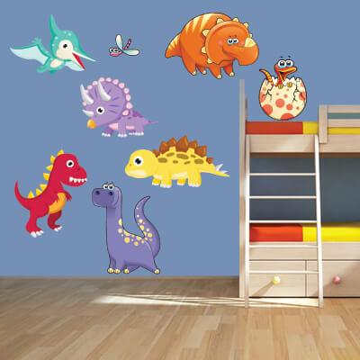 # Αυτοκόλλητο τοίχου με δεινόσαυρους (σετ 3) - Sticker Box