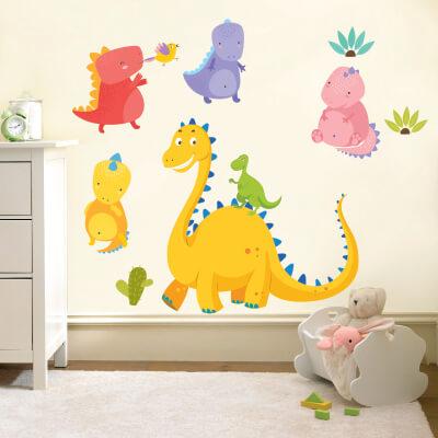 # Αυτοκόλλητο τοίχου με δεινόσαυρους (σετ 4) - Sticker Box