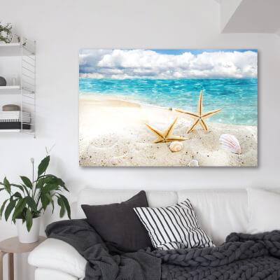 Πίνακας αμμουδιά και κοχύλια