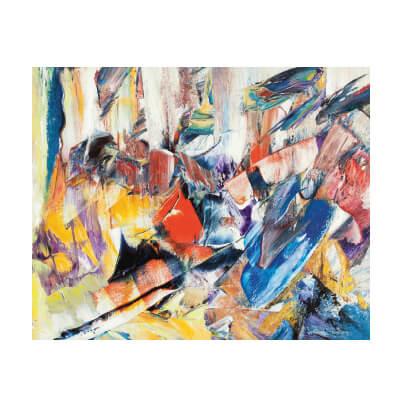 Πολύχρωμος πίνακας αφηρημένη τέχνη