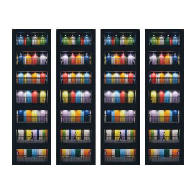 Τετράπτυχος πίνακας με πολύχρωμες πόρτες_1