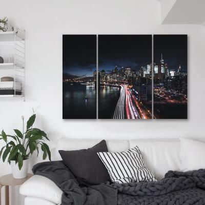 Τρίπτυχος πίνακας Νέα Υόρκη